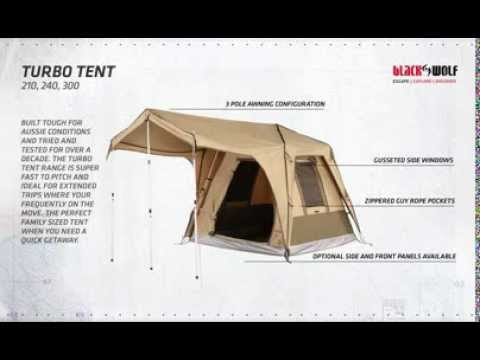 & BlackWolf Turbo Tent 210 240 300 features - YouTube