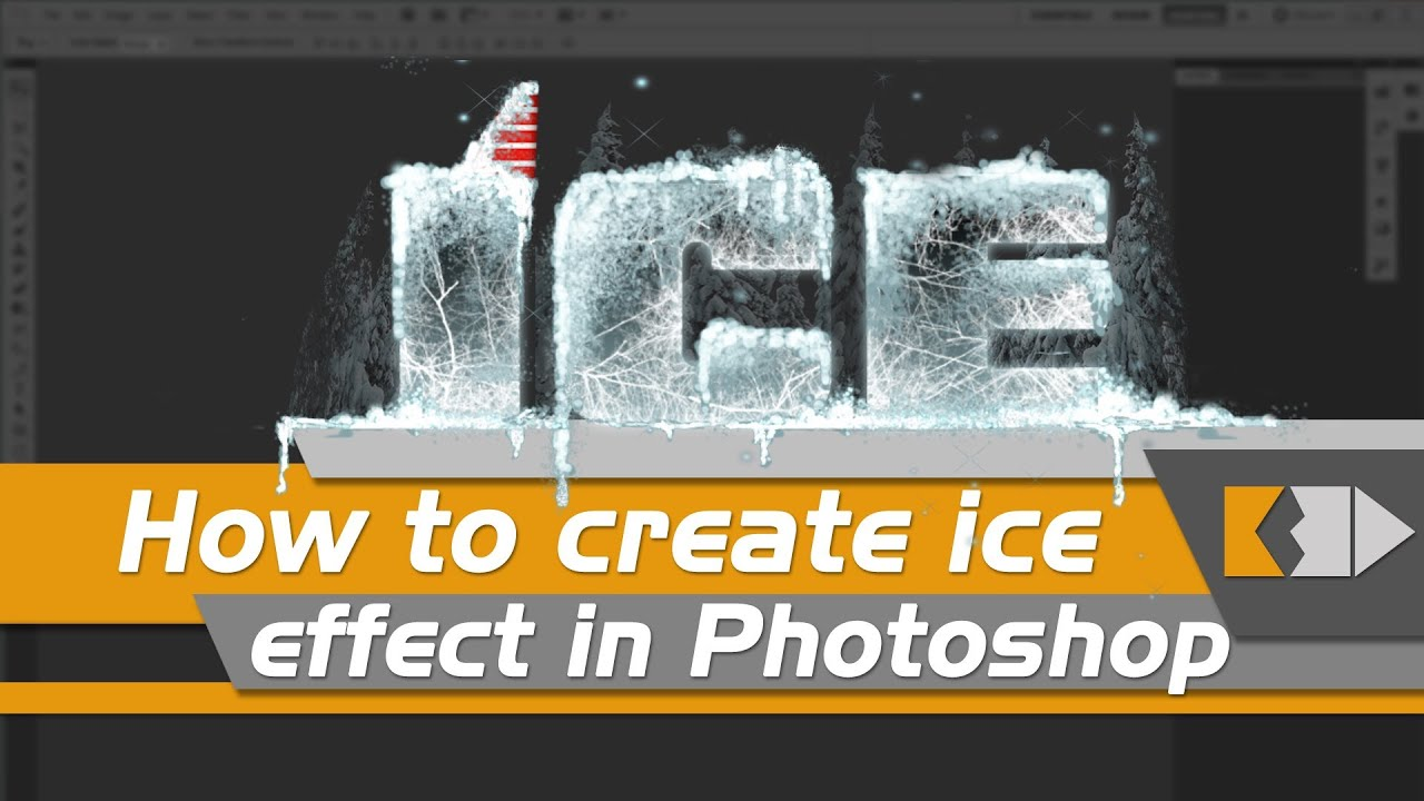 how to create ice effect in photoshop  click3d
