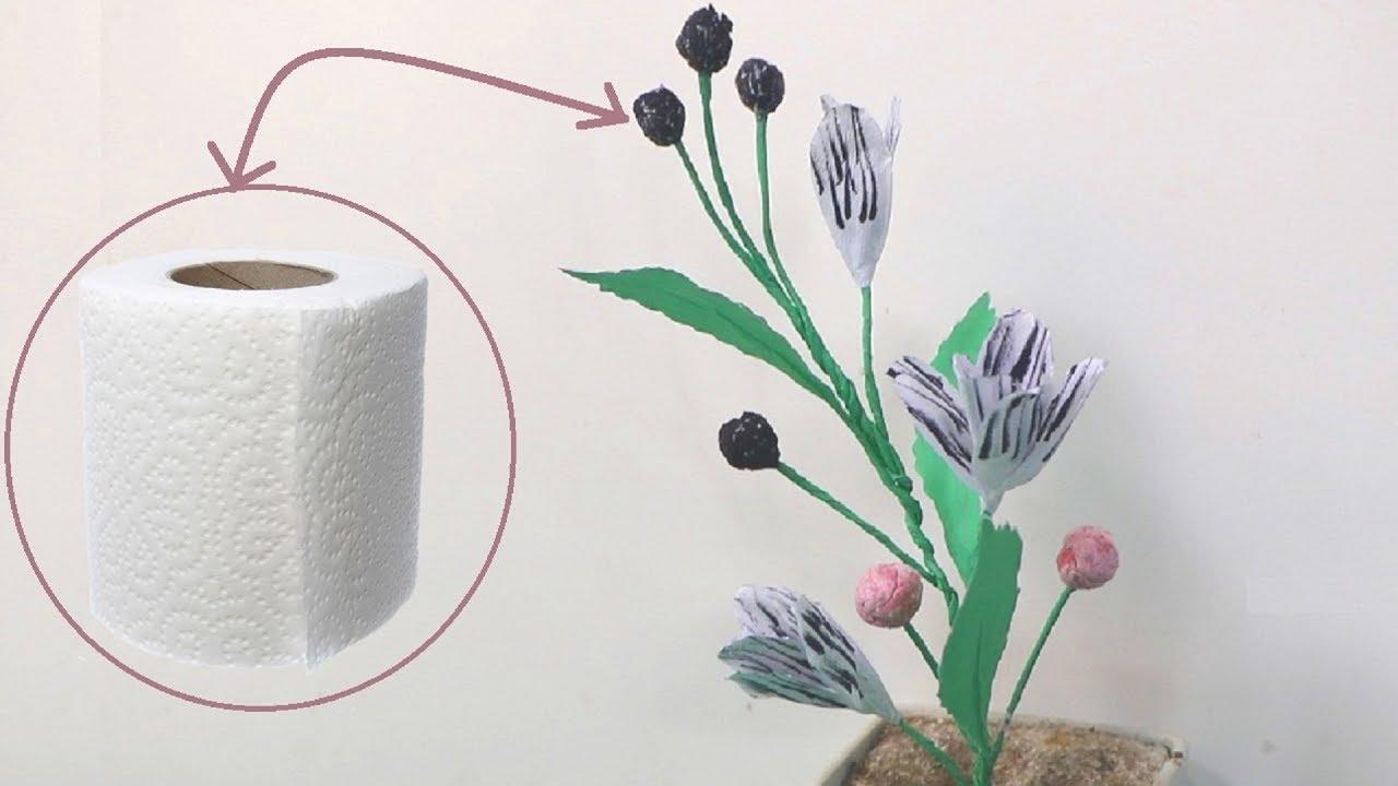 How To Make Toilet Tissue Paper Flower Toilet Paper Flowers Diy