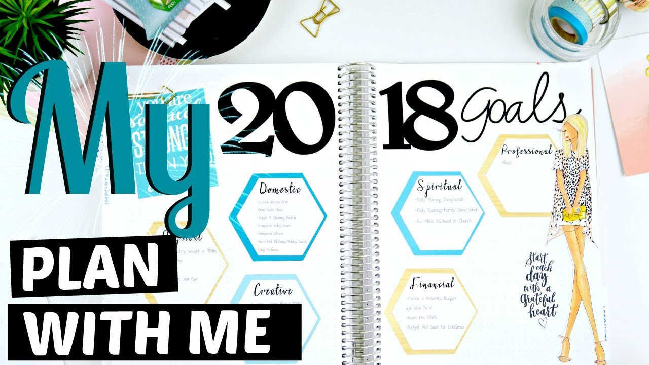 My 2022 Goals A Planner Vision Board YouTube