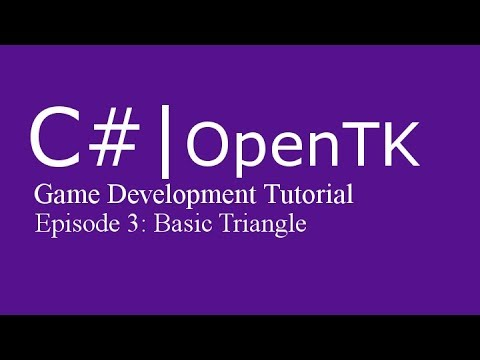 Game Development Tutorial with c# (& OpenTK) | Episode 3: Basic Triangle thumbnail