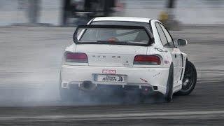 IDC 2015 Round 1 - 1JZ S15, RWD Subaru Impreza, LS3 R34 & More Cars Drifting