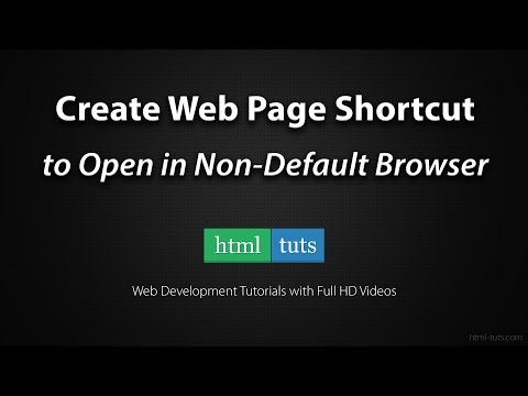 Create Web Page Shortcut On Desktop To Open In Non-Default Browser