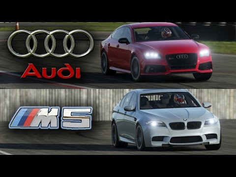 BMW M5 vs Audi RS7 - Top Gear Track Battle!