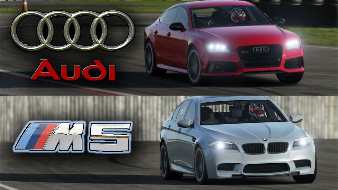 BMW M5 vs Audi RS7 - Top Gear Track Battle! - YouTube