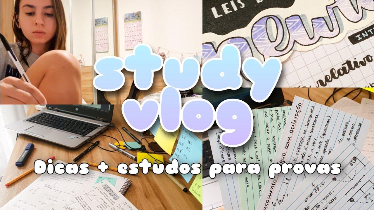 STUDY VLOG | Como eu estudo para provas + dicas | Malena Studies