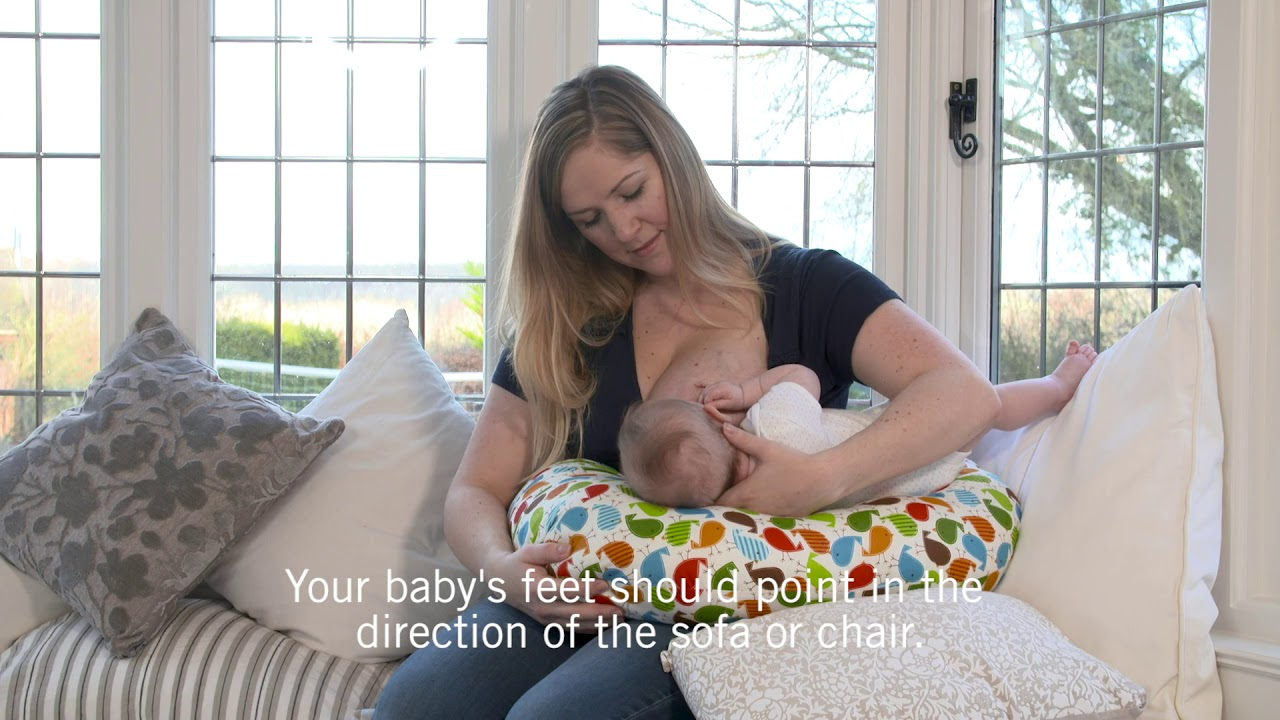 How To Rugby Hold Breastfeeding Position Youtube