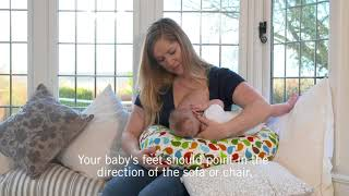 Howto Rugby Hold Breastfeeding Position