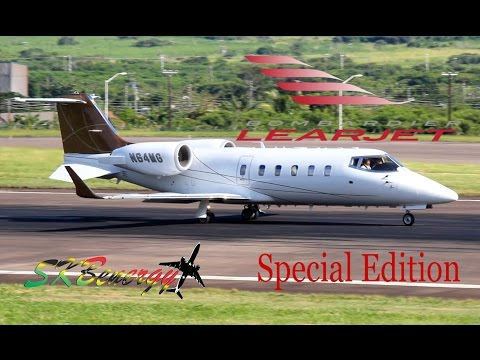 LearJet Special Edition !!! 35, 45, 60 in action @ St. Kitts Robert L. Bradshaw Int'l Airport