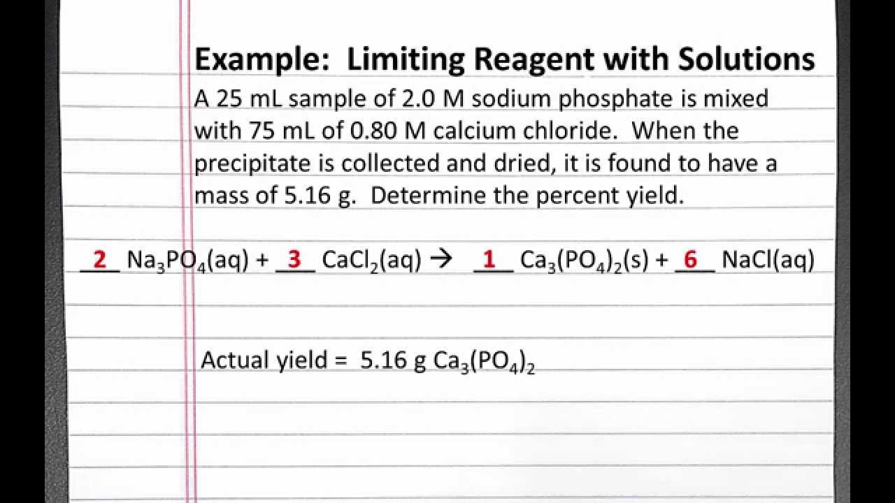 Chemistry 101 limiting reagent with solutions youtube chemistry 101 limiting reagent with solutions robcynllc Image collections