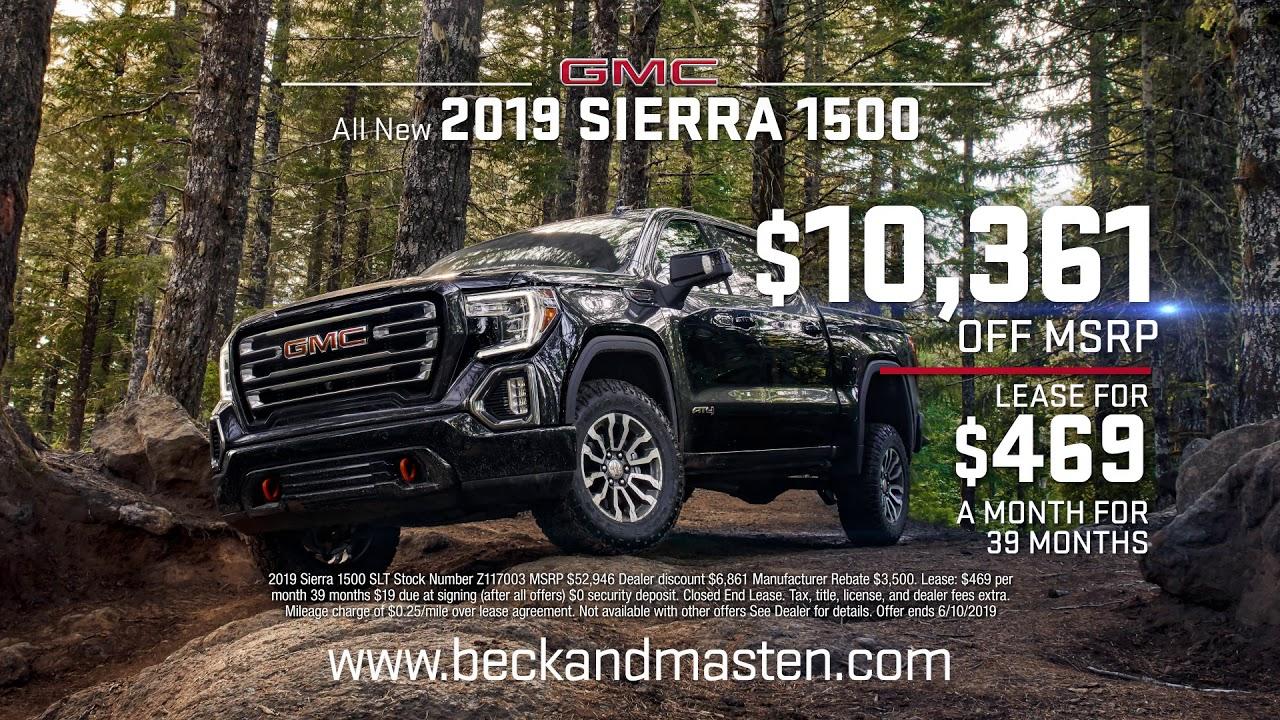Gmc Dealer Houston >> 2019 Sierra 1500 Truck Month In Houston Tx Beck Masten Buick Gmc North