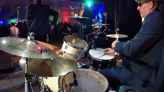 Man at C&A 2Rude ska band SKArry Island 2018 drum cam view