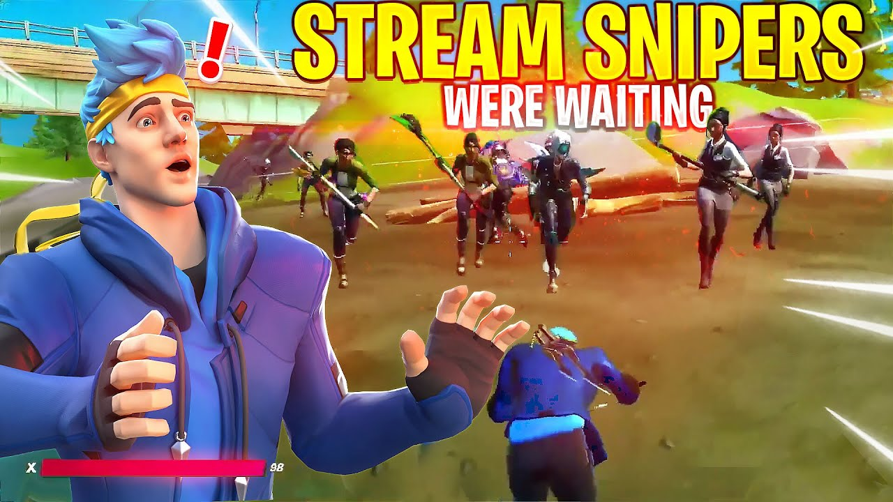 FIRST STREAM BACK, IMMEDIATELY STREAM SNIPED...