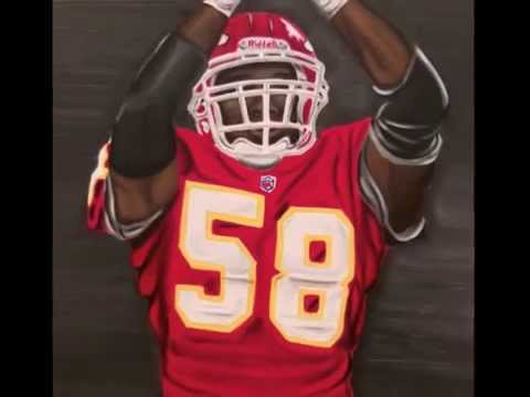 Derrick Thomas Kansas City Chiefs Sportraits Painting Video