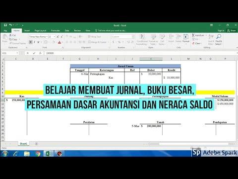 Persamaan Dasar Akuntansi Dan Membuat Jurnal Umum Buku Besar Akun T Dan Neraca Saldo Youtube
