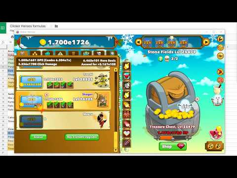 New Clicker Heroes Formulas For Version 1.0e10 - Outsiders Leveling Guide