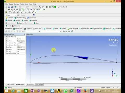 import blunt airfoil coordinate into DesignModeler