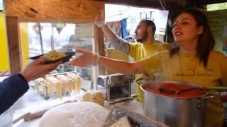 Italian Street Food: Delicious Freshly Handmade Tagliatelle by