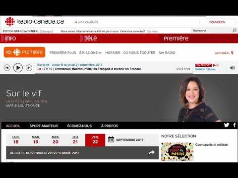 Radio Canada - Sur le vif - 21 septembre 2017