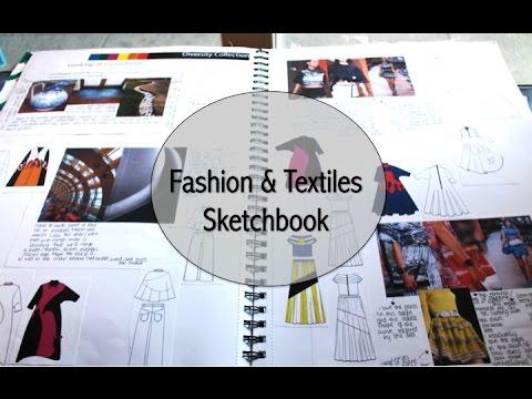 BA Fashion/Textiles Sketchbook