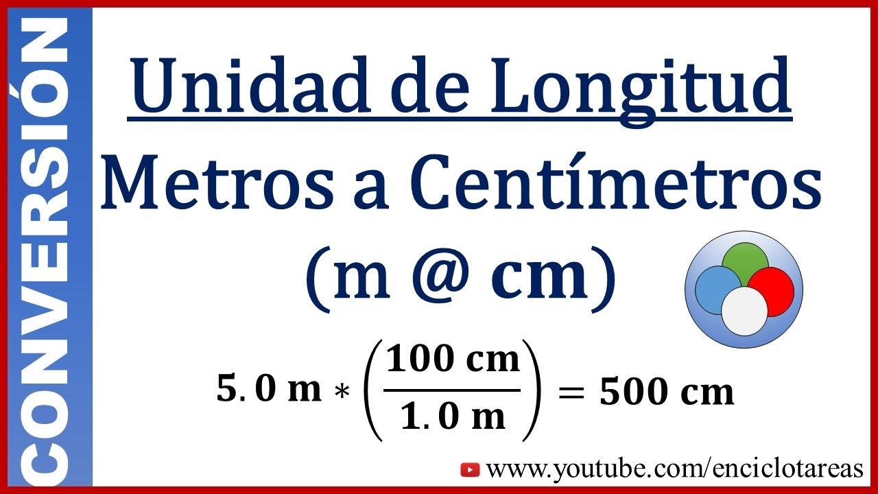 Convertir metros a centimetros m a cm youtube - Pasar de metros a metros cuadrados ...