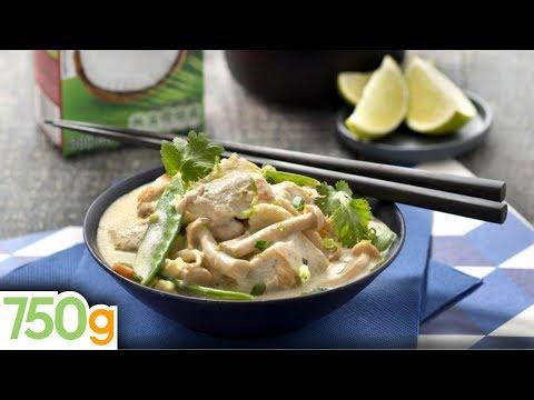 recette-de-poulet-curry-coco-et-légumes-verts---750g