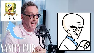 Tom Kenny (SpongeBob) Improvises 5 New Cartoon Voices | Vanity Fair Video