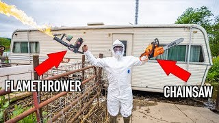 DESTROYING the Camper on My FARM!!!! (EPIC)