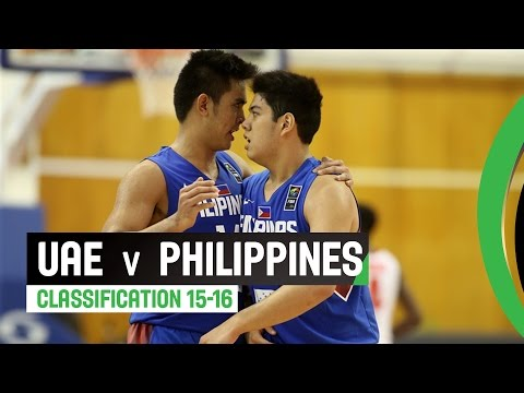 UAE v Philippines - Classification 15-16 Full Game - 2014 FIBA U17 World Championship