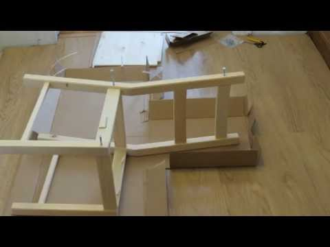 Ikea ivar chair time lapse assembly youtube for What time does ikea close