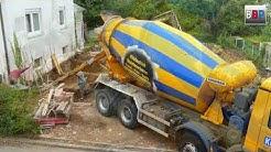 Mercedes-Benz Actros Liebherr Concrete Mixer / Betonmischer, Unterfangung betonieren, 2018.