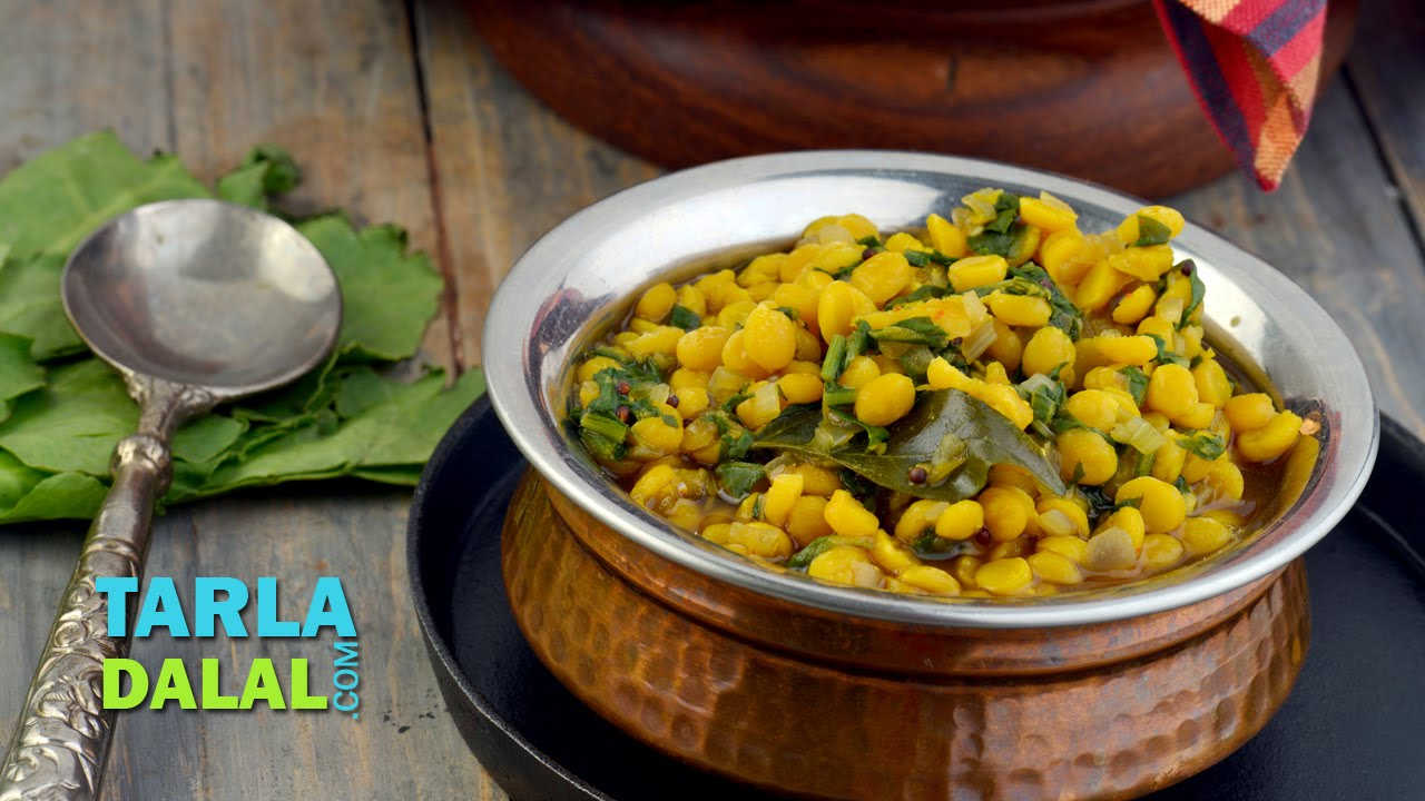 Palak chana dal zero oil and low cholesterol by tarla dalal youtube forumfinder Images