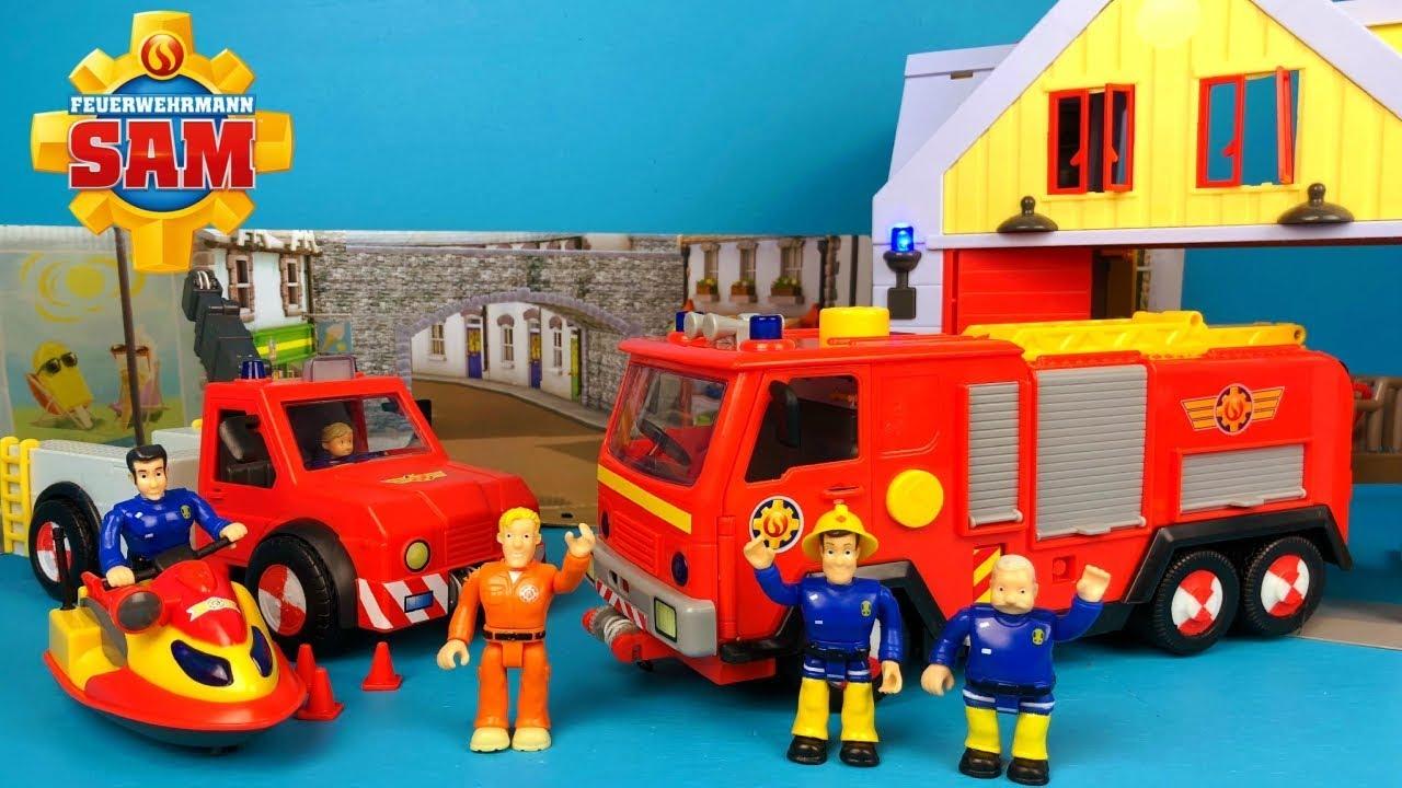fireman sam deluxe jupiter engine unboxing
