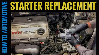 How to Replace the Starter on a Toyota Sienna with the 3.3L Engine