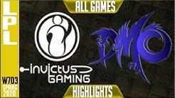 IG vs WE Highlights ALL GAMES | LPL Spring 2020 W7D3 | Invictus Gaming vs Team WE