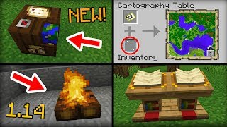 NEW Stuff Added in Minecraft 1.14 Update