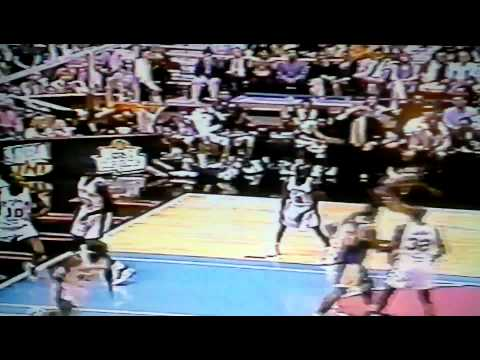 Eddie Jones dunks on David Robinson