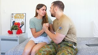 Joining the Army PRANK on Girlfriend! SHE CRIED :(