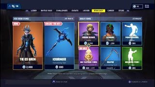 Fortnite Item Shop 1/20/19 *New* ICE QUEEN SKIN (Reaper Pickaxe!)