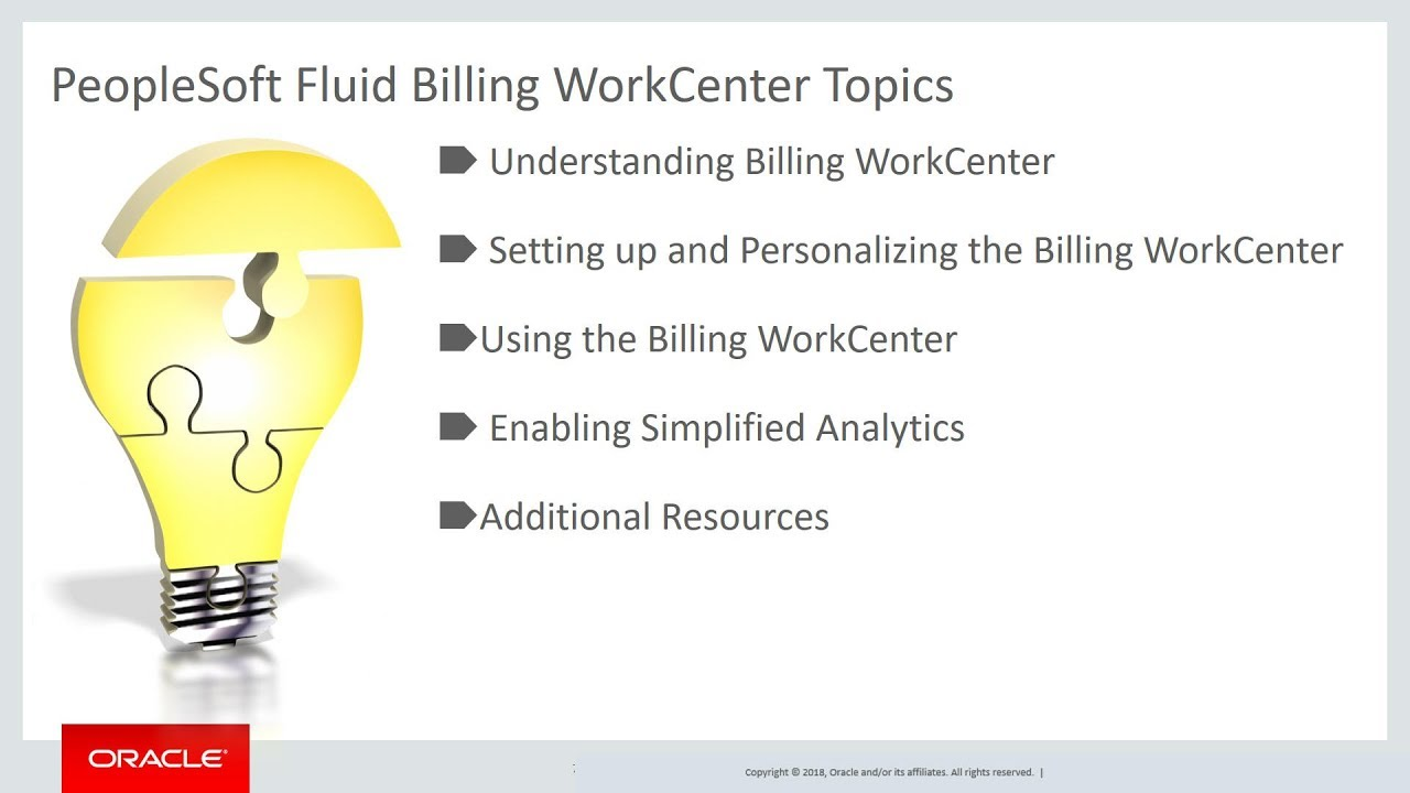 PeopleSoft Spotlight Series: Using the Fluid Billing WorkCenter