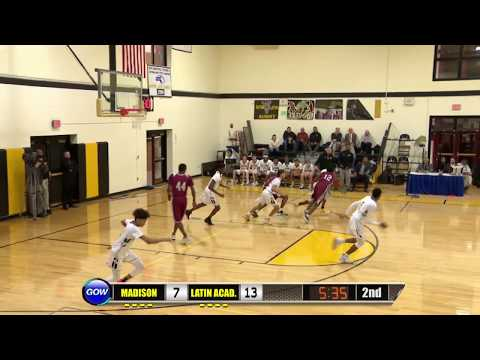 Game of the Week Play of the Game: Latin Academy Guard Mason Lawson Acrobatic Lay-in and 1