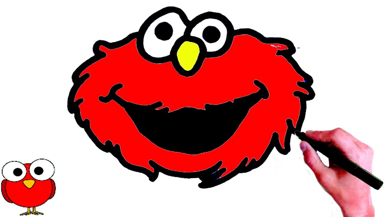 How To Draw ELMO Step by Step from SESAME STREET - Easy Drawing ...