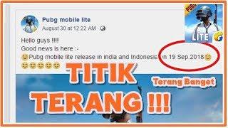 Rilis Indonesia 19 september PUBG Mobile LITE? Benerkah?