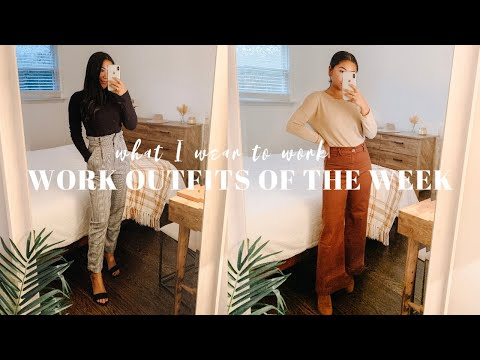 Work Outfits Of The Week | Business Casual Outfit Ideas