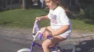 Children's first bike ride no training wheels