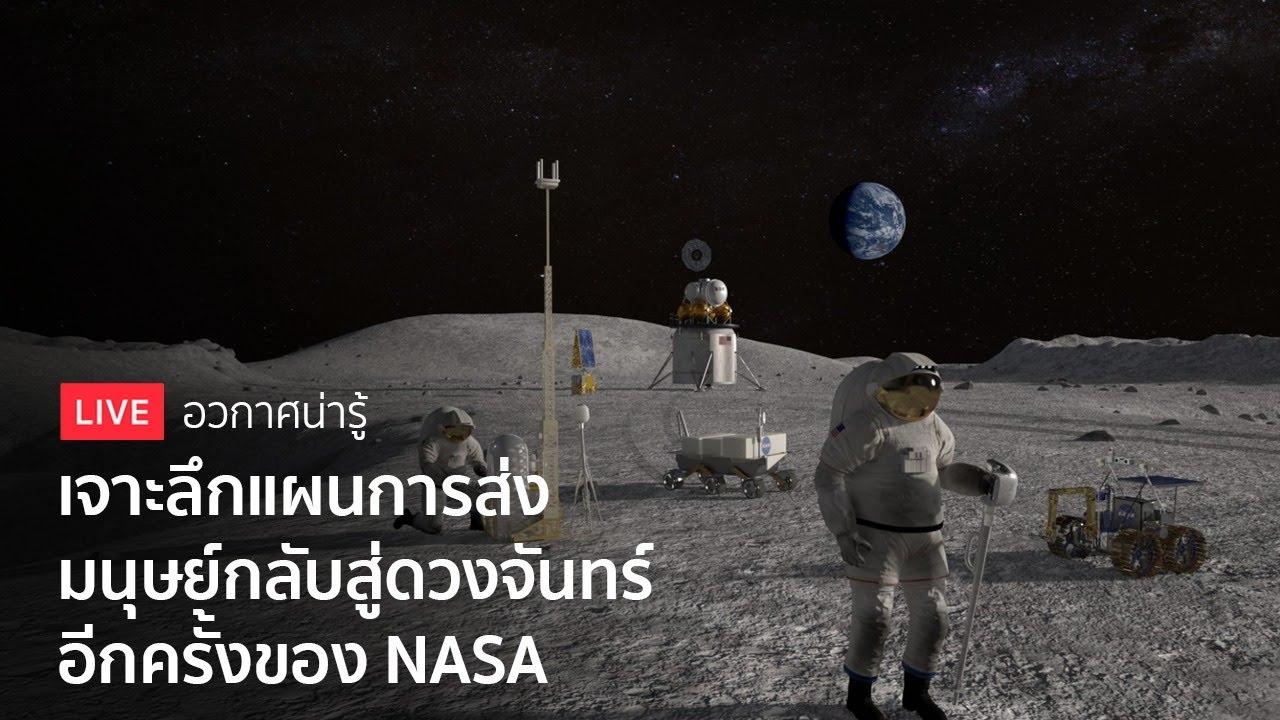 เจาะลึกโครงการอาร์ทีมิส การส่งมนุษย์กลับสู่ดวงจันทร์อีกครั้งของ NASA - อวกาศน่ารู้ LIVE
