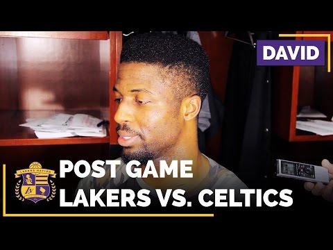New Laker David Nwaba Has Good Showing Against The Boston Celtics