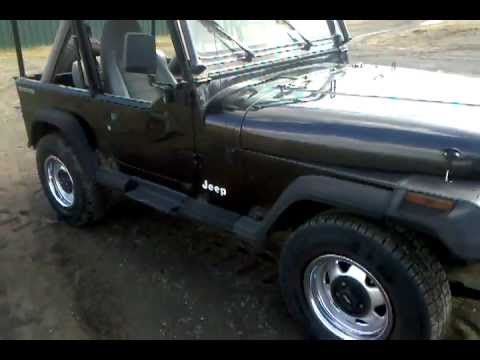 1990 jeep wrangler yj 4x4 for sale cheaply youtube. Black Bedroom Furniture Sets. Home Design Ideas