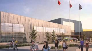 Progress report: Aquatics Centre, 50% completed