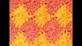 Узор Арлекин - Crochet pattern Harlequin - многоцветные узоры